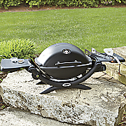 q 1200 portable gas grill  tools and cover by weber