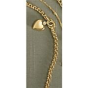 rolo heart charm bracelet