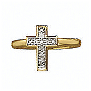 diamond cross ring 157