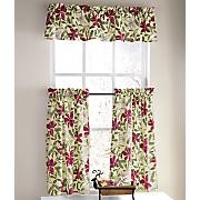 poinsettia window treatments