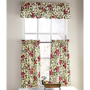 poinsettia window treatments