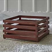 distressed red crate