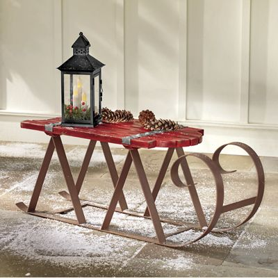 Red Sleigh Table