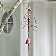 red tree wind chime