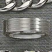 men s stainless steel brushed band