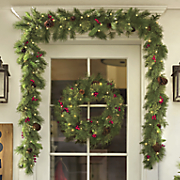 6  cashmere garland with lights
