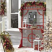 red shelf door
