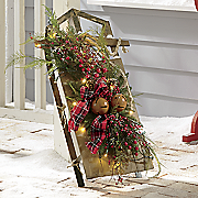plaid decorated sled