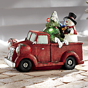christmas pickup truck with led lights