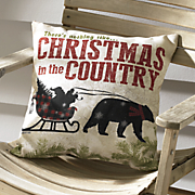 christmas in the country pillow