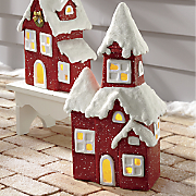 red christmas schoolhouse