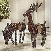lit reindeers