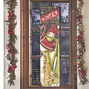burlap snowman banner
