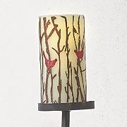 set of 3 led bird candles