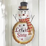 let it snow snowman sign