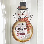let it snow snowman sign