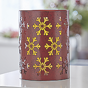 red snowflake led lantern