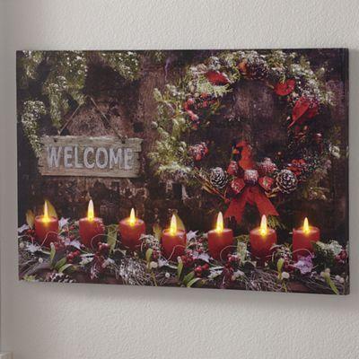 Christmas Print with LED Lights