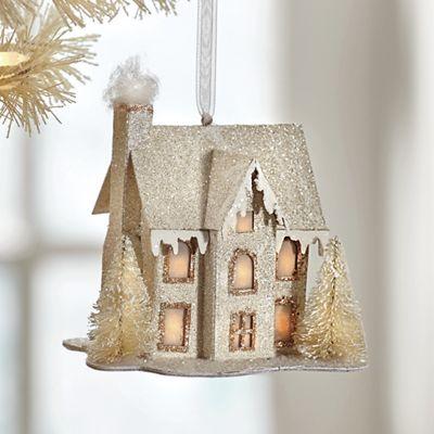Lit House Ornament