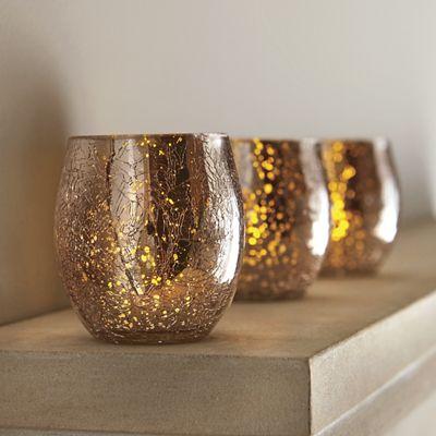 Set of 3 Rose Gold Tealights