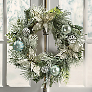 Frosted Pointsettia Wreath