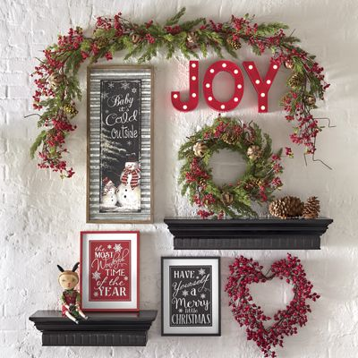 Bell & Berry Cypress Garland and Wreath