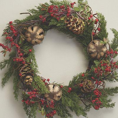 Bell & Berry Cypress Wreath