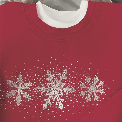 Jewel Snowflake Sweatshirt