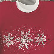 Jewel Snowflake Sweatshirt
