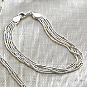 Sterling Silver Multi-Chain Bracelet