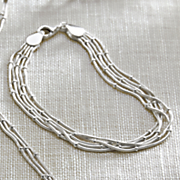 sterling silver multi chain bracelet