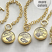 personalized pendant and round bracelet