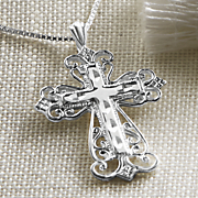 sterling silver cross necklace