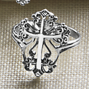 sterling silver cross ring