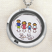 family character name pendant