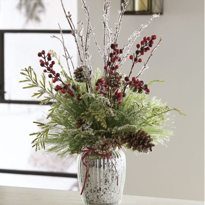 Frosted Pine in Vase