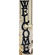 standing welcome sign