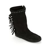 Women's Luna Fringe Boot by Minnetonka