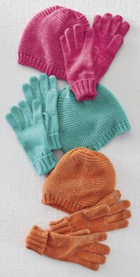 Touch of Sparkle Hat & Glove Set