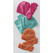 touch of sparkle hat   glove set