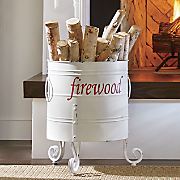 firewood storage bin