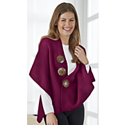 sweater cape scarf with buttons