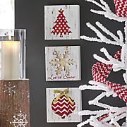 set of 3 christmas signs