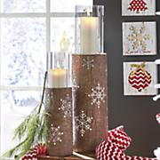 resin log candleholders