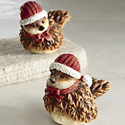 set of 2 santa birds