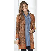 mix stitched jacquard sweater