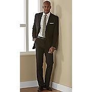 men s black 2 pc  suit