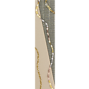 14k gold tri color singapore link chain