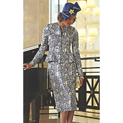 olivia shoe  hat and skirt suit