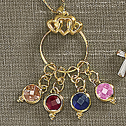 charm holder necklace